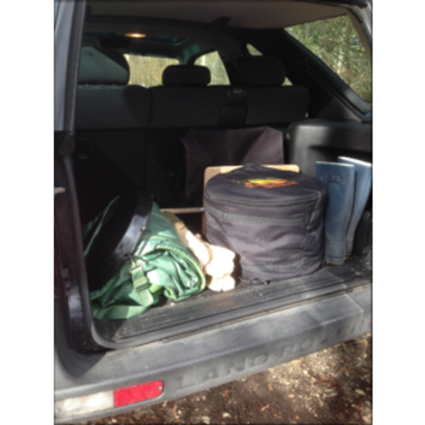 Aquaforno in car boot